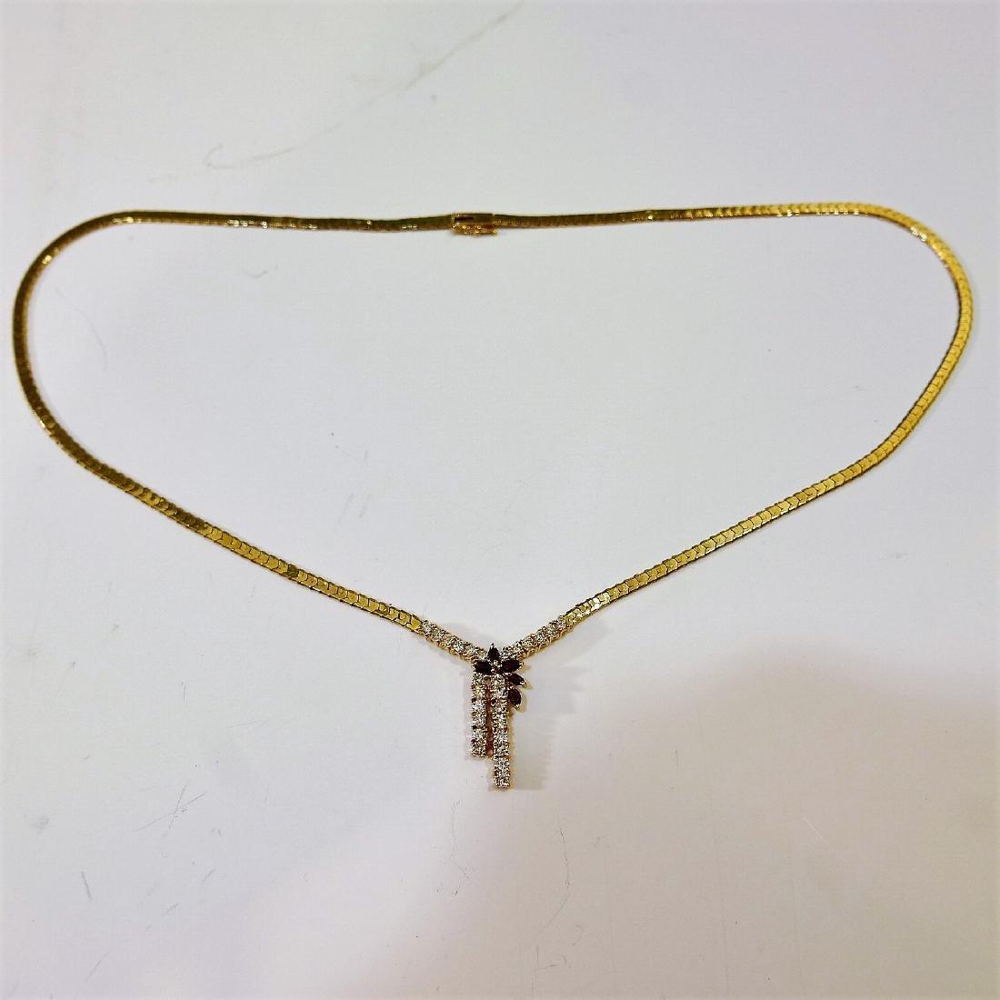 14K GOLD DIAMOND NECKLACE 15G - 2