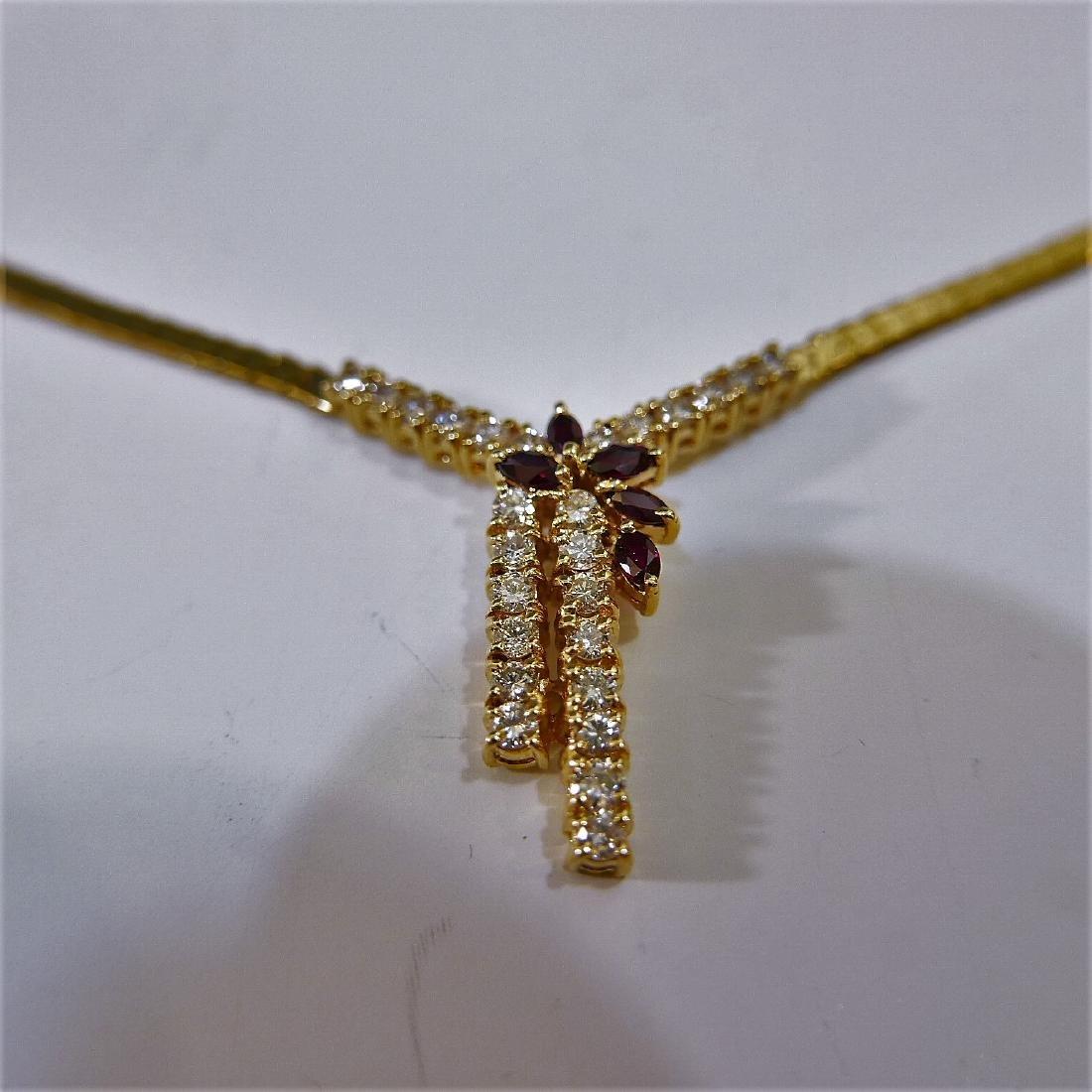 14K GOLD DIAMOND NECKLACE 15G - 3