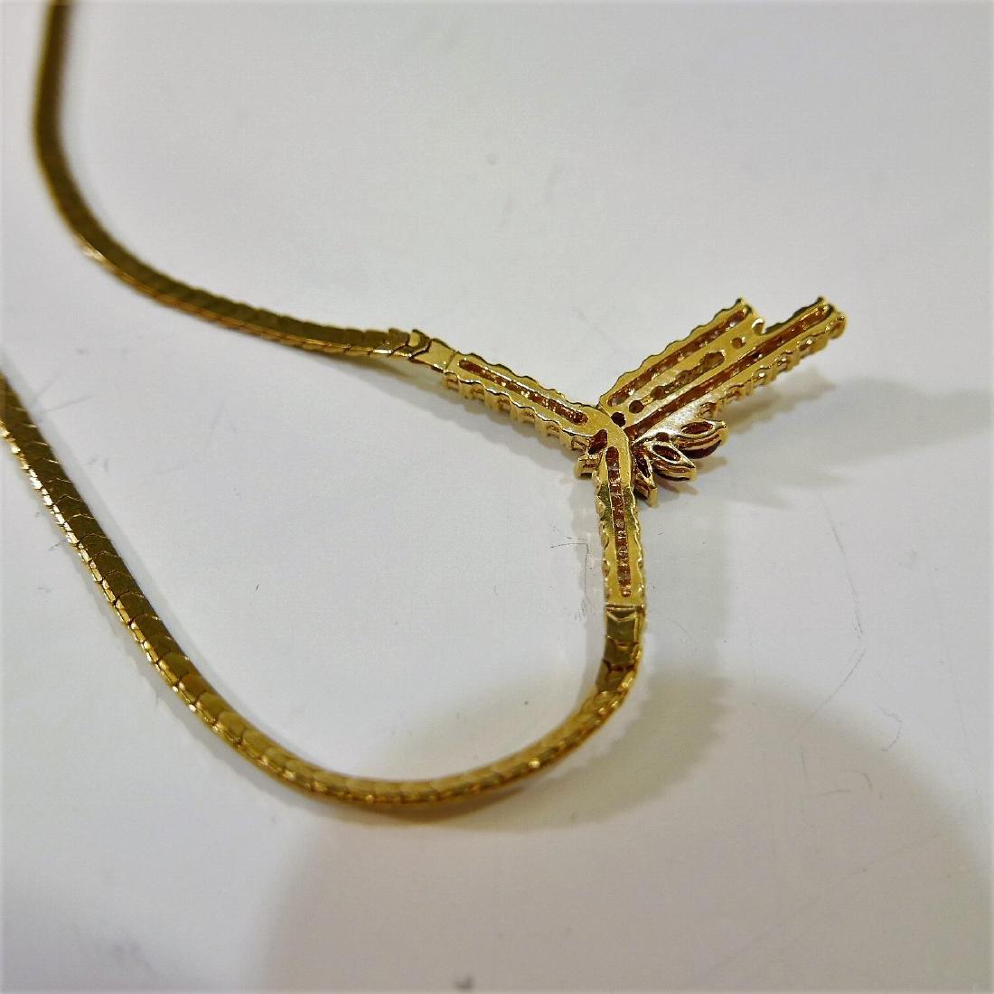 14K GOLD DIAMOND NECKLACE 15G - 4