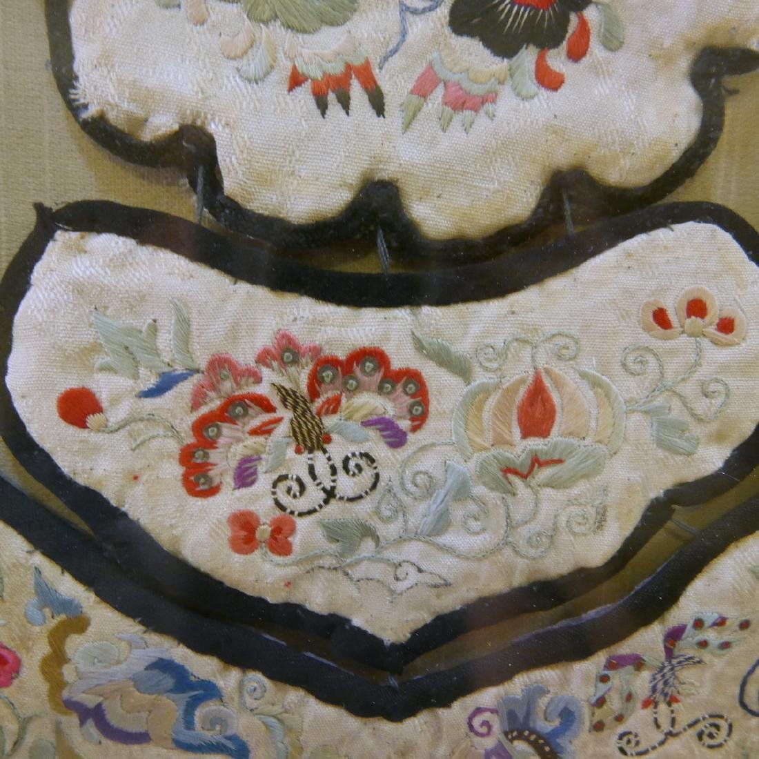 CHINESE ANTIQUE KESI SILK COLLAR - QING DYNASTY - 3