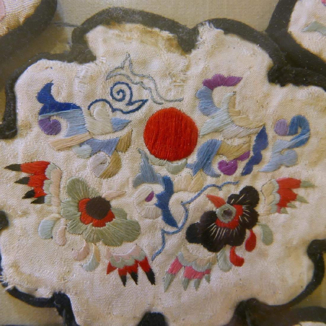 CHINESE ANTIQUE KESI SILK COLLAR - QING DYNASTY - 4
