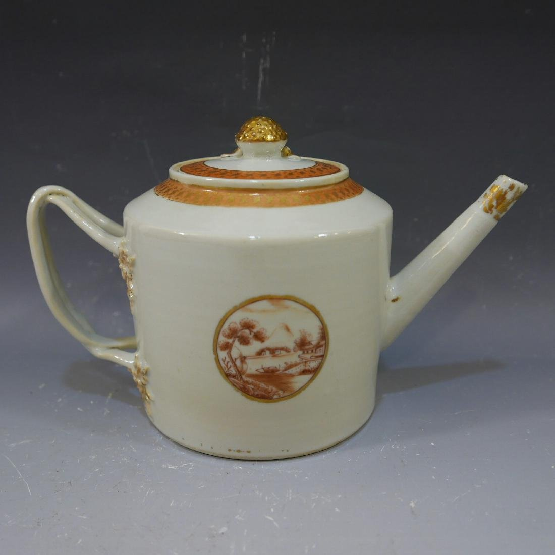 RARE ANTIQUE CHINESE PORCELAIN TEAPOT - 18TH CENTURY