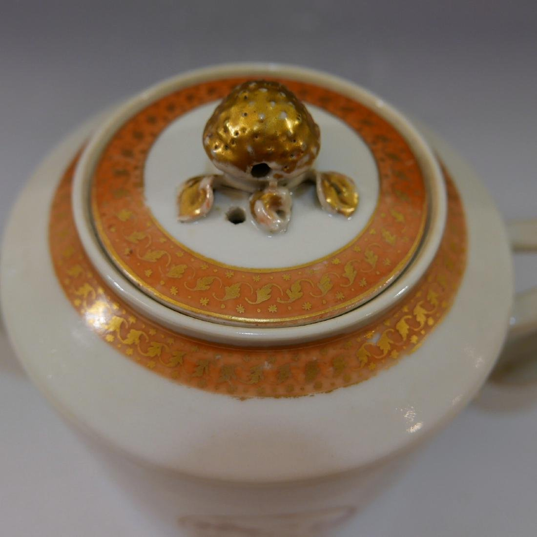 RARE ANTIQUE CHINESE PORCELAIN TEAPOT - 18TH CENTURY - 8