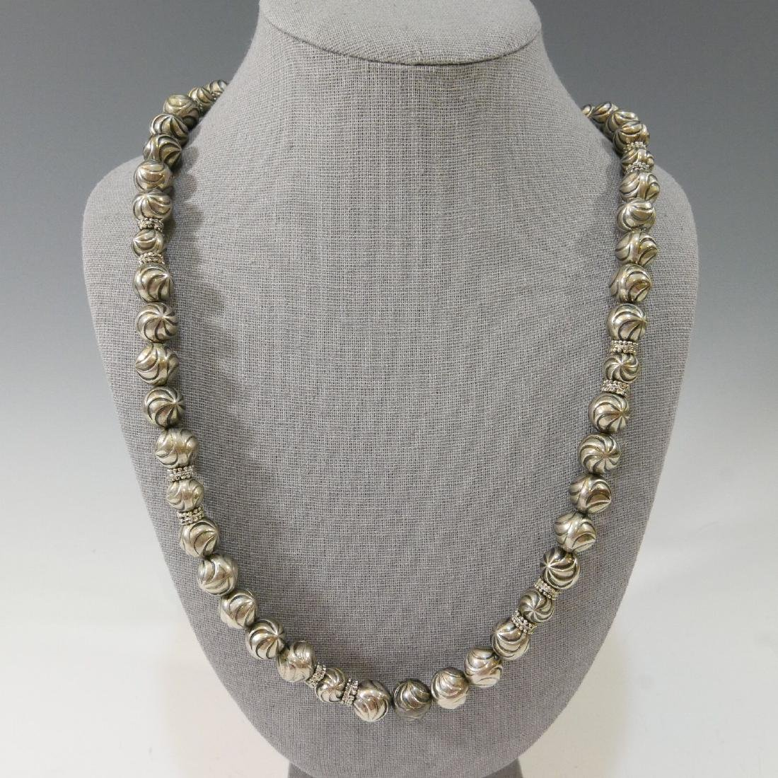 STERLING SILVER BEADS NECKLACE
