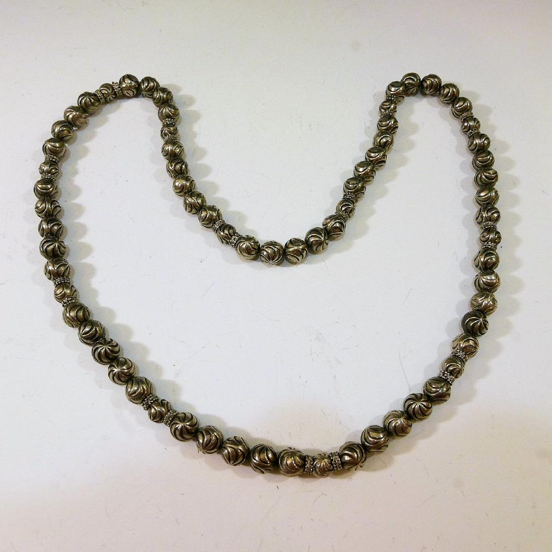 STERLING SILVER BEADS NECKLACE - 2