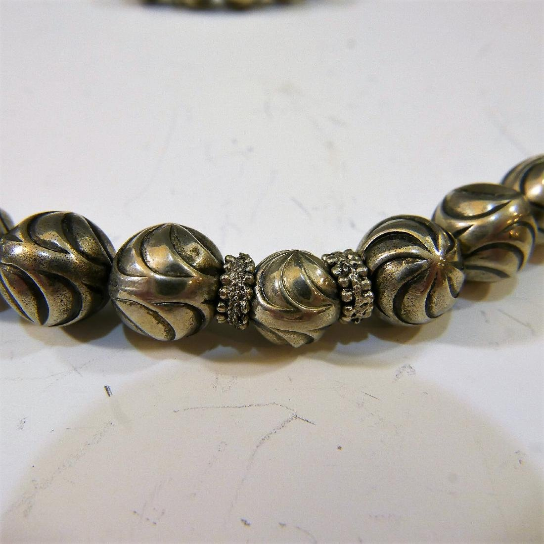 STERLING SILVER BEADS NECKLACE - 3