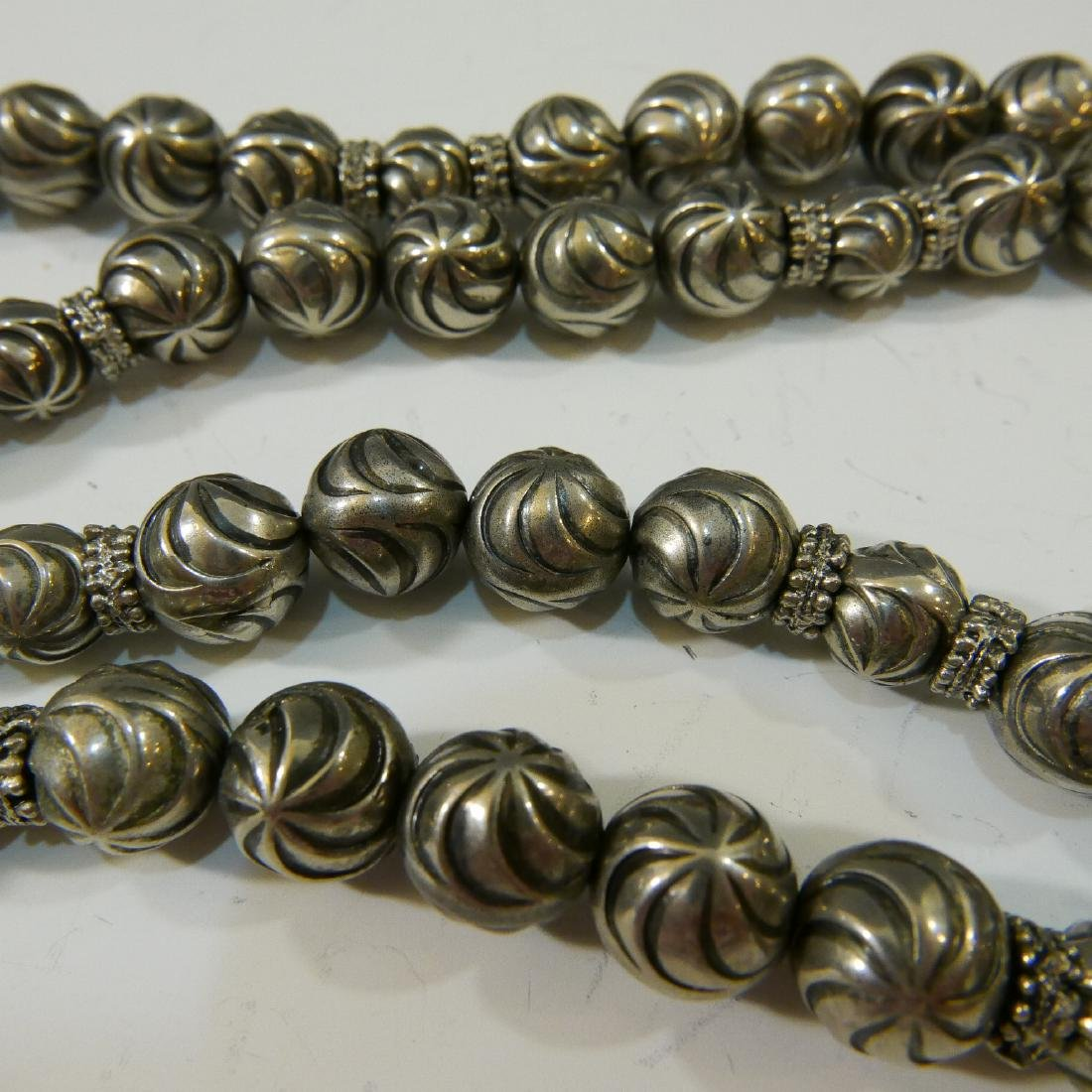 STERLING SILVER BEADS NECKLACE - 4