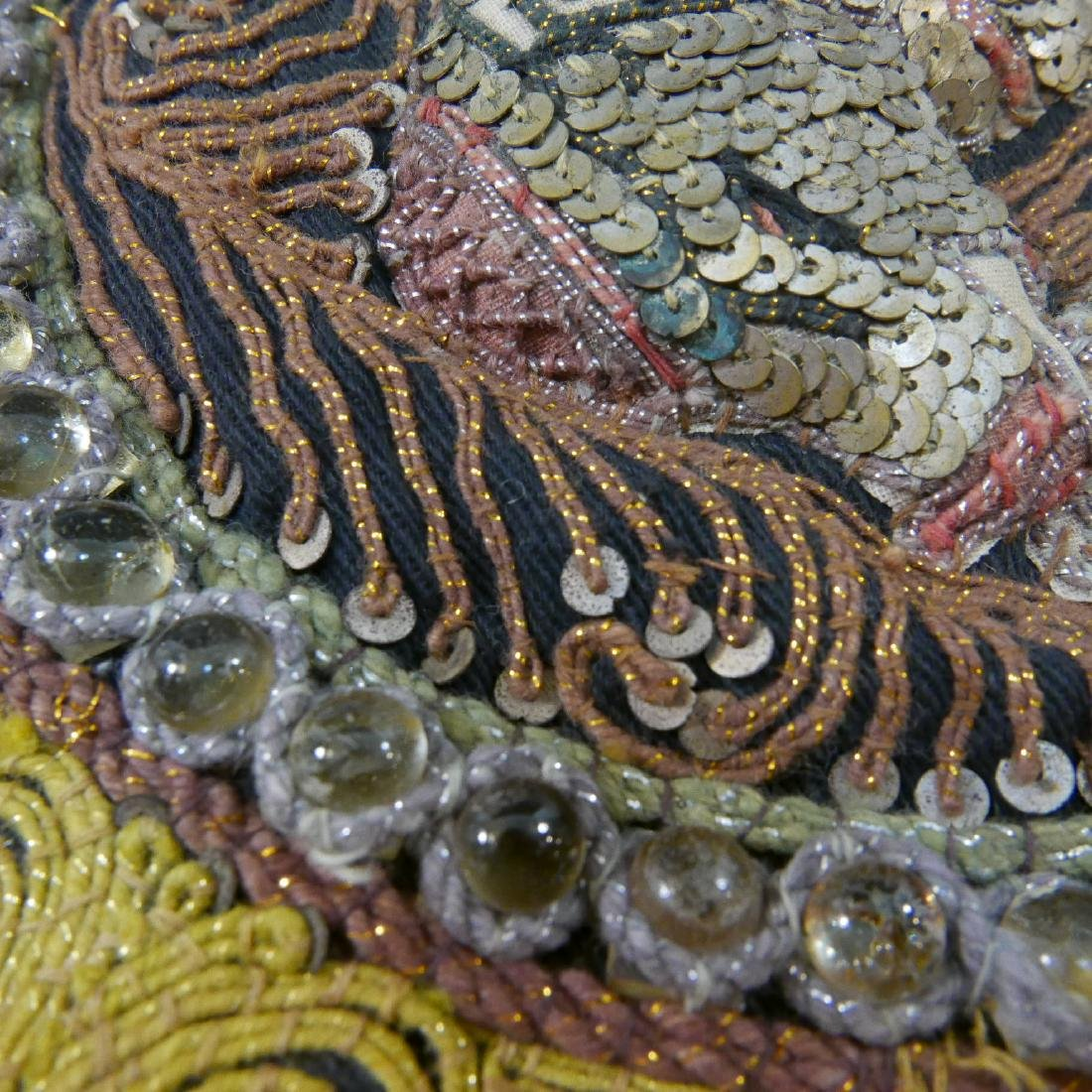 ANTIQUE INDIAN ELEPHANT EMBROIDERY - 4