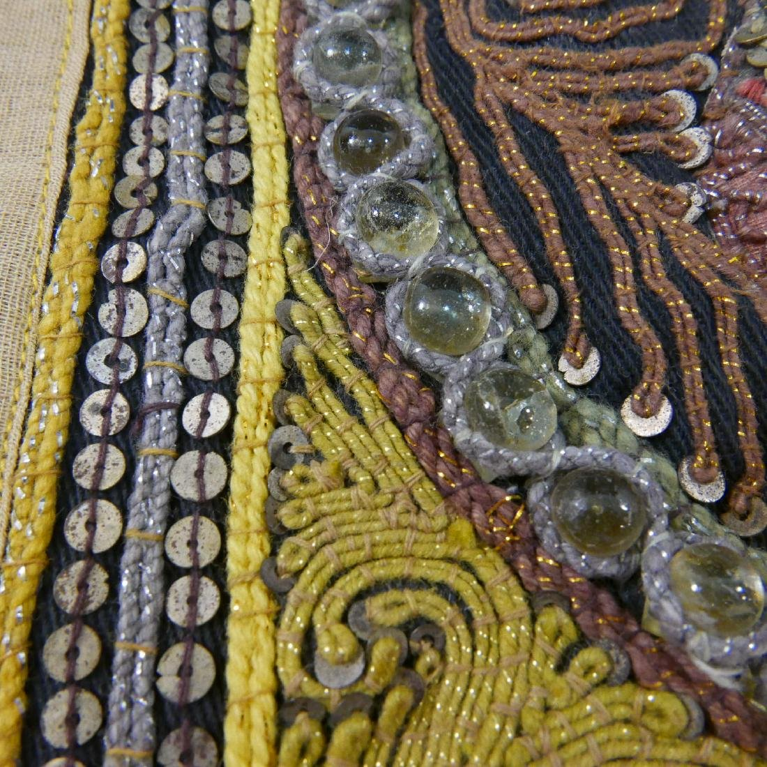 ANTIQUE INDIAN ELEPHANT EMBROIDERY - 5
