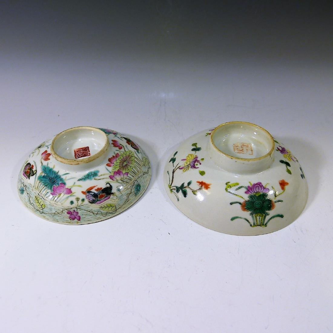 CHINESE ANTIQUE FAMILLE ROSE COVER BOWL - 3