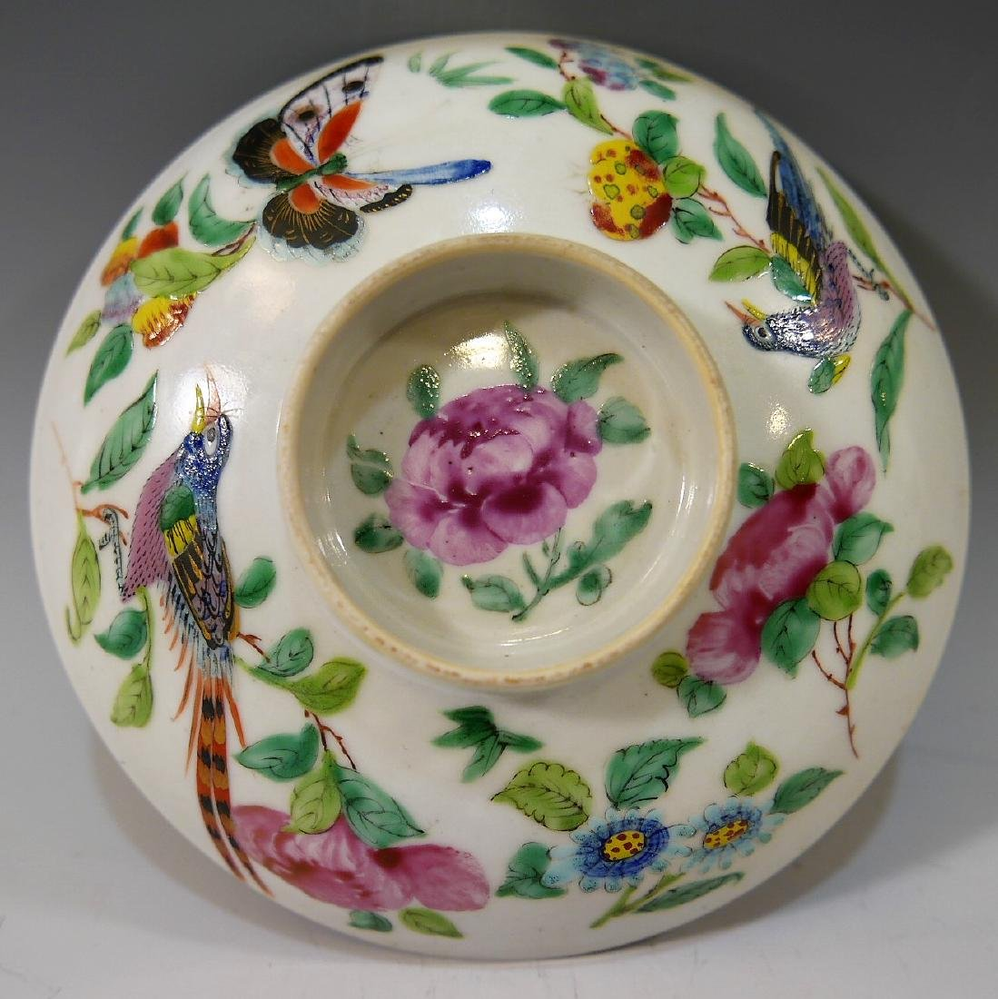 CHINESE ANTIQUE FAMILLE ROSE DISH