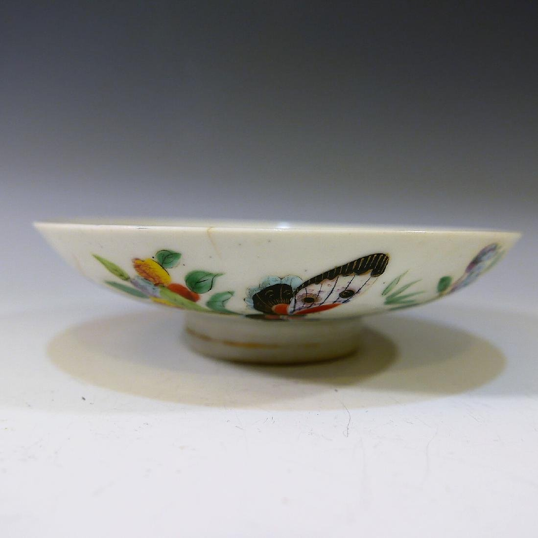 CHINESE ANTIQUE FAMILLE ROSE DISH - 2