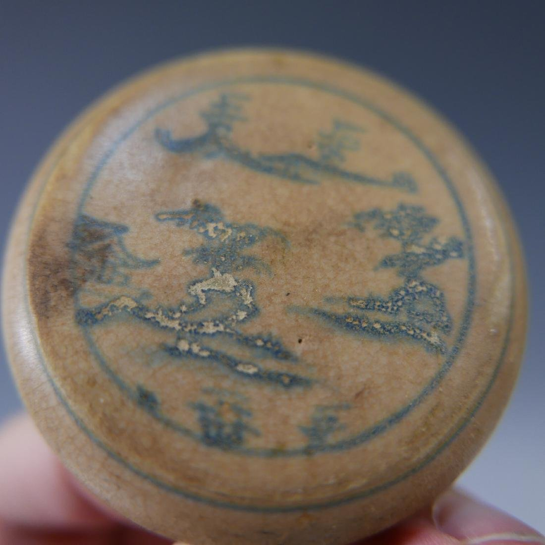 CHINESE ANTIQUE BLUE AND WHITE BOX - MING DYNASTY - 5