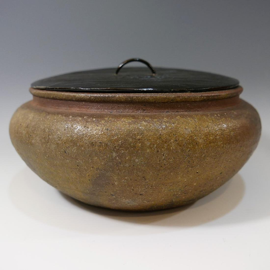 JAPANESE ANTIQUE POTTERY WATER POT