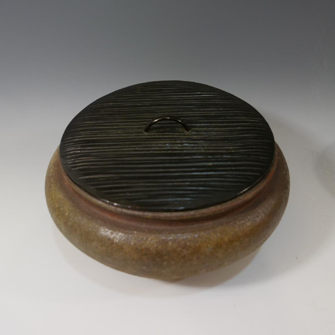 JAPANESE ANTIQUE POTTERY WATER POT - 2