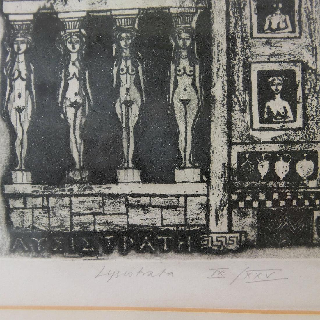 "FRANK MARTIN (BRITISH B.1921), ""LYSISTRATA"" ETCHING ON - 4"