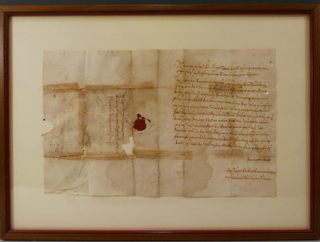 RARE ANTIQUE CONTINENTAL ROYAL LETTER - 18TH CENTURY