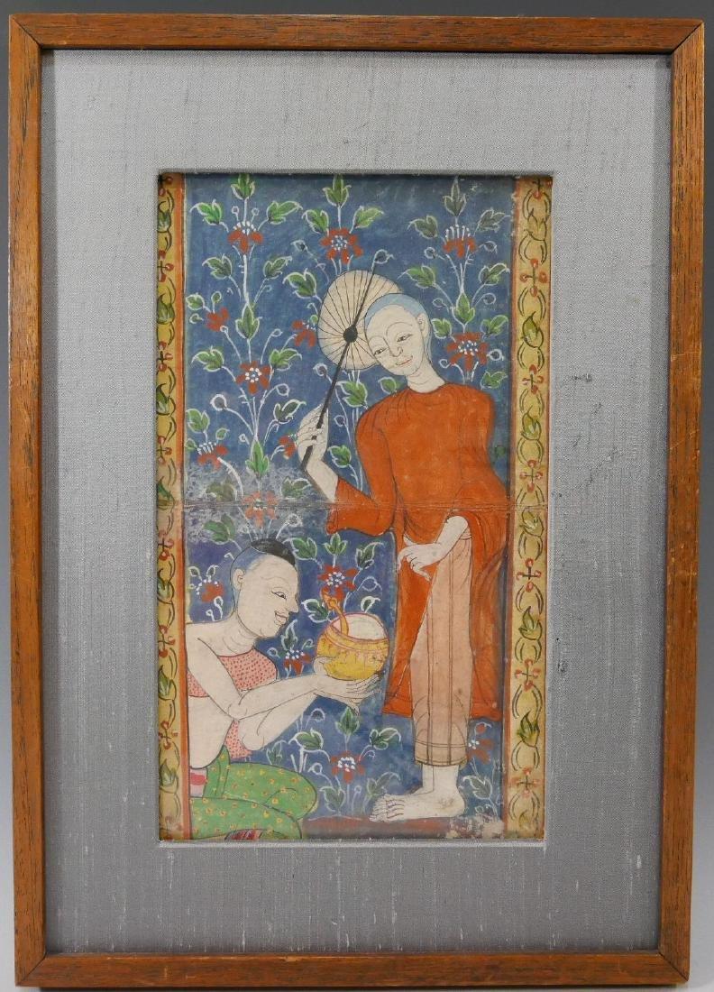 TIBETAN PAINTING OF MONKS - 19TH CENTURY
