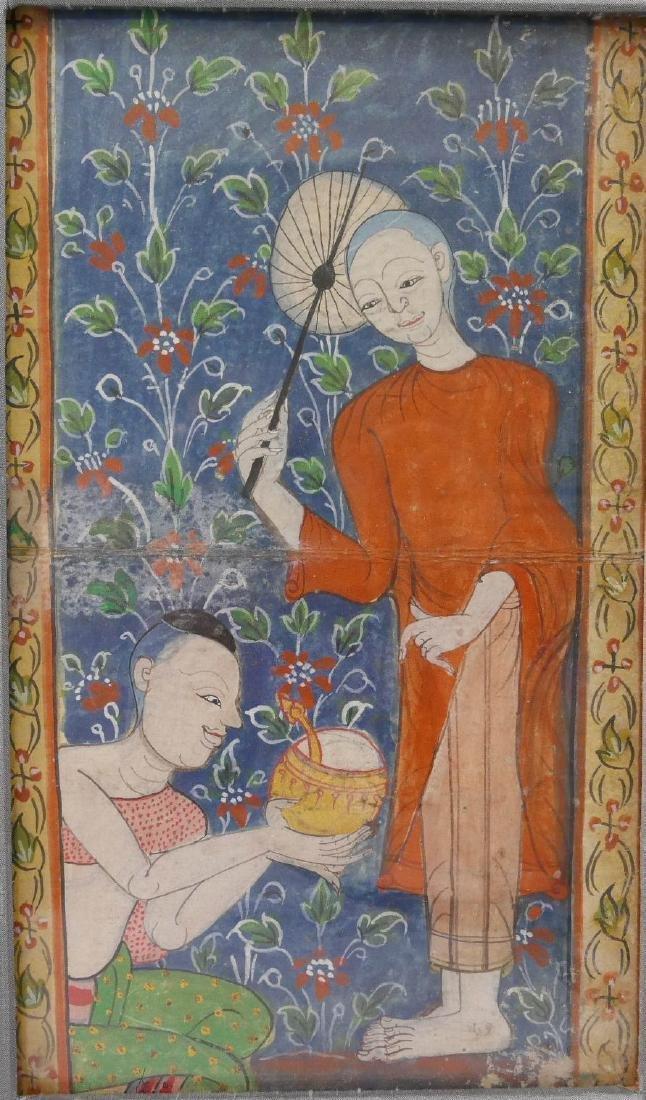 TIBETAN PAINTING OF MONKS - 19TH CENTURY - 2