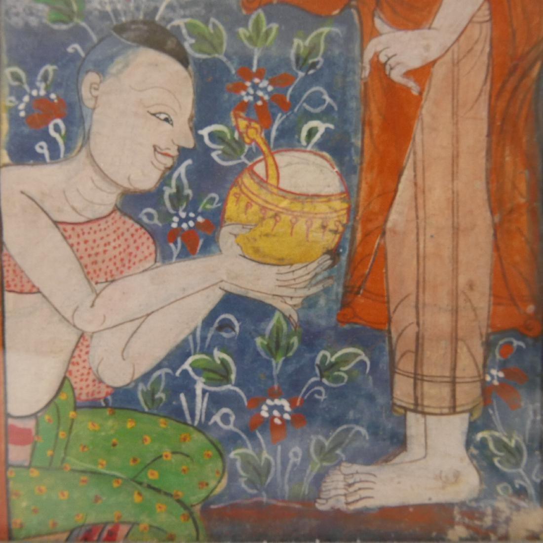 TIBETAN PAINTING OF MONKS - 19TH CENTURY - 4
