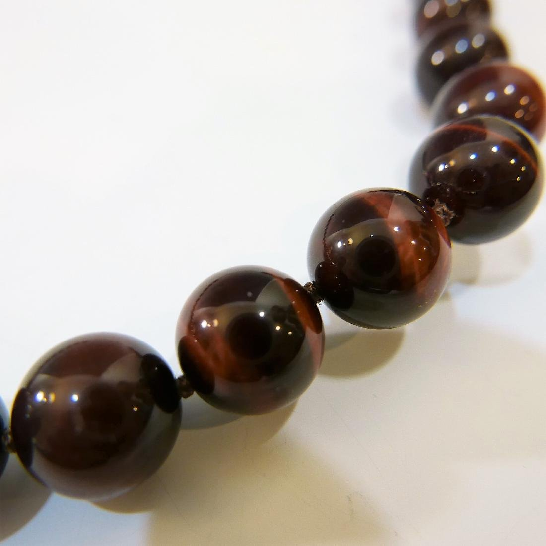 LARGE CAT'S EYE BEADS NECKLACE - 3