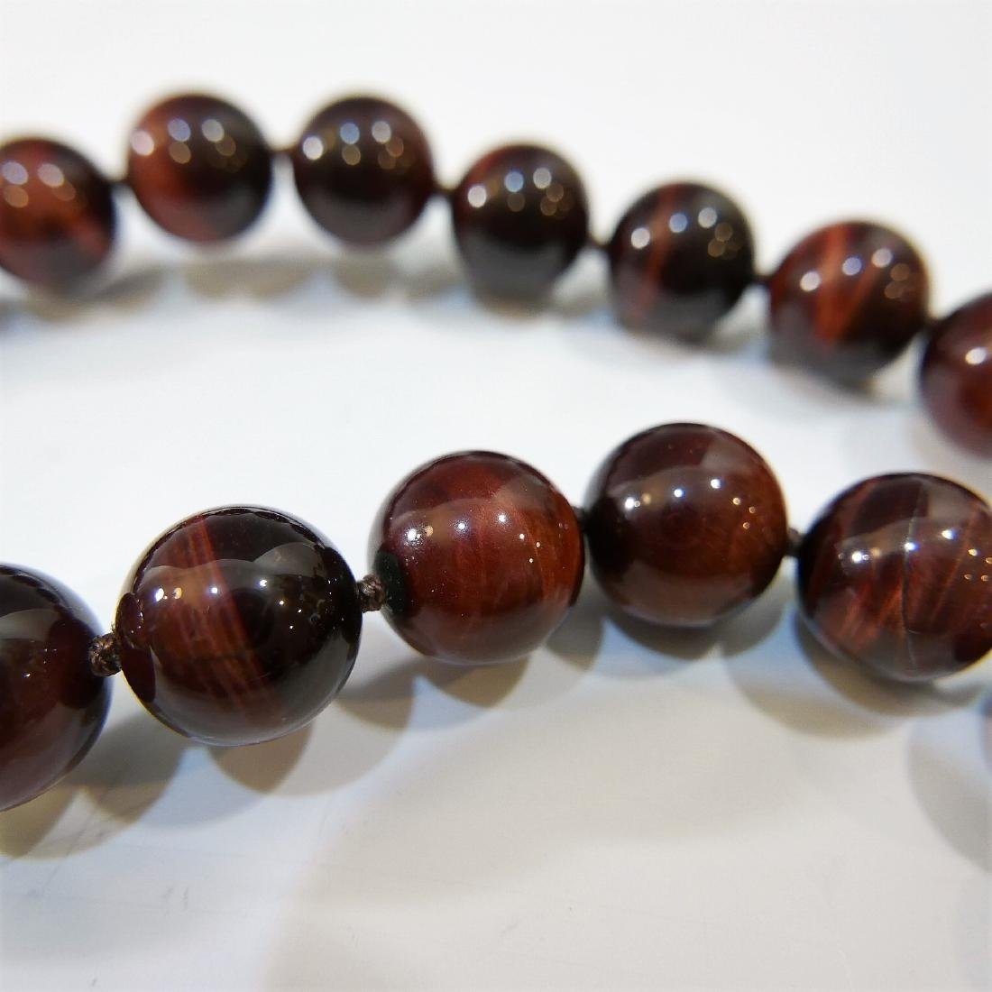 LARGE CAT'S EYE BEADS NECKLACE - 4