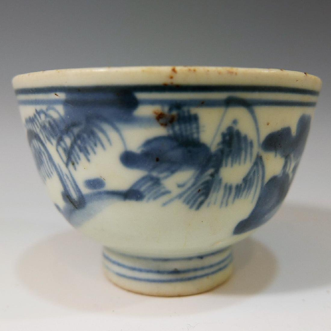 CHINESE ANTIQUE BLUE WHITE PORCELAIN CUP - KANGXI