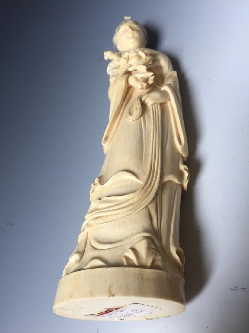 A BEAUTIFUL CHINESE ANTIQUE FIGURE CARVING - 7