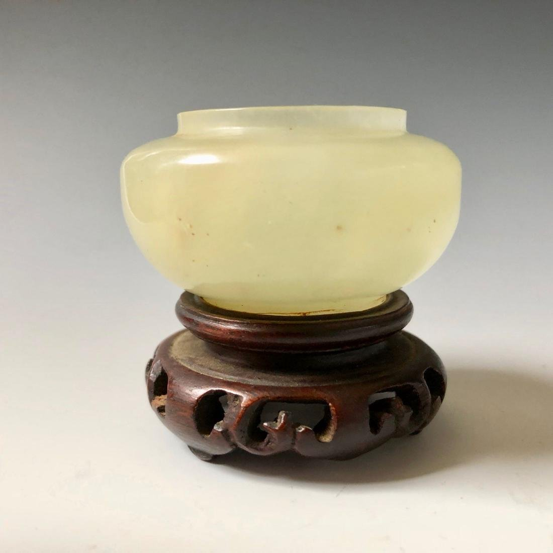 CHINESE ANTIQUE JADE BOWL, 18C - 5