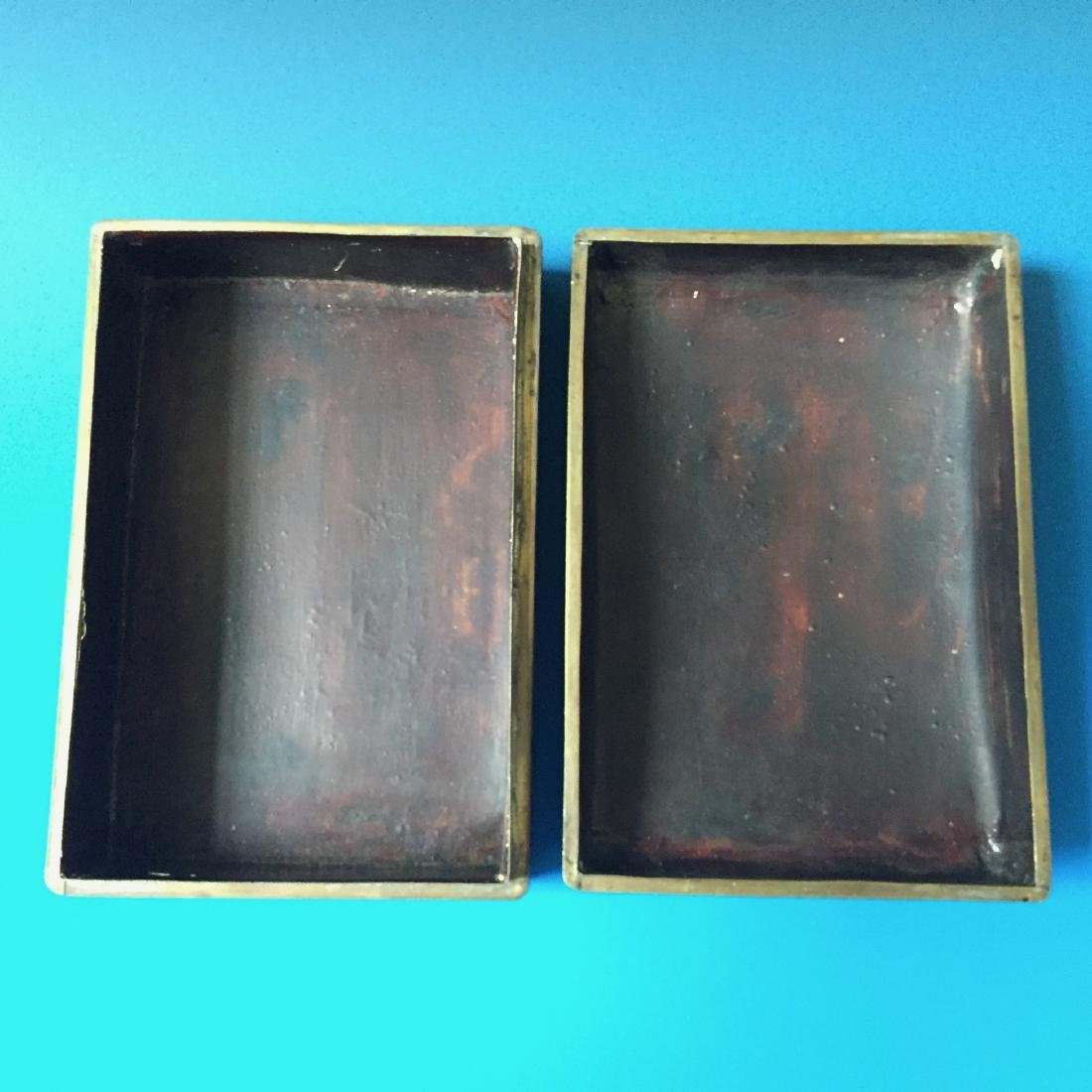 A BEAUTIFUL CHINESE ANTIQUE LACQUER BOX SEAL MARK OF - 6