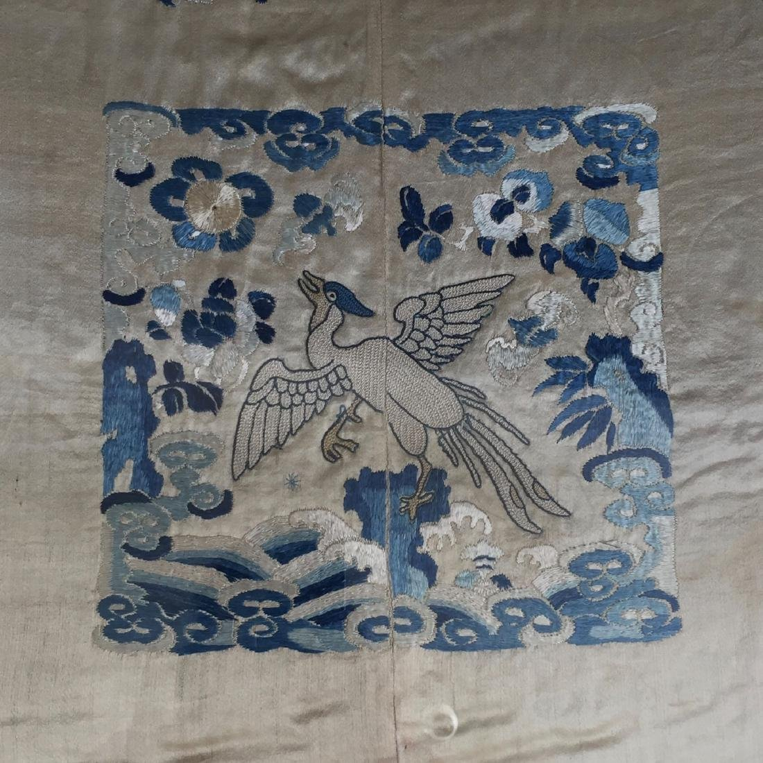 A FINE CHINESE ANTIQUE EMBROIDERED PANEL - 2