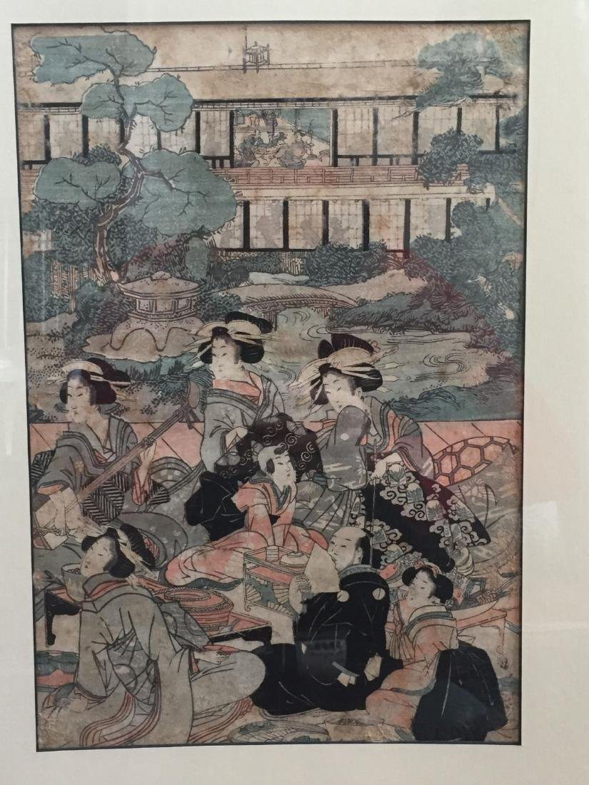 THREE PIECES OF OID JAPANESE WOODBLOCK PRINT - 3
