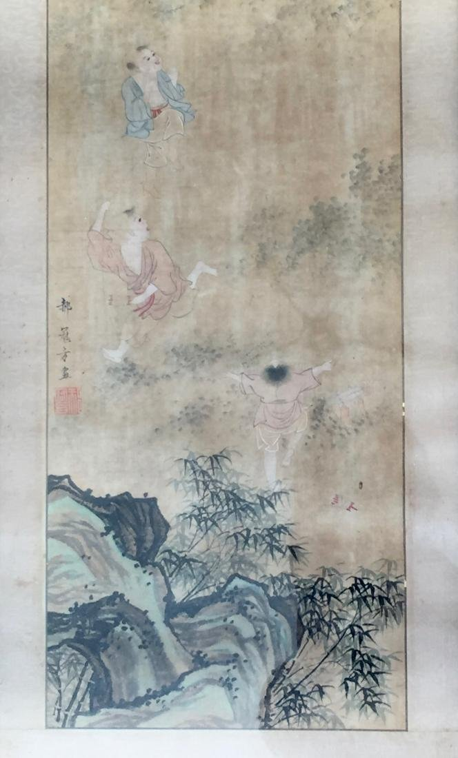 CHINESE ANTIQUE PAINTING. HAO GUANFANG SIGNATURE.