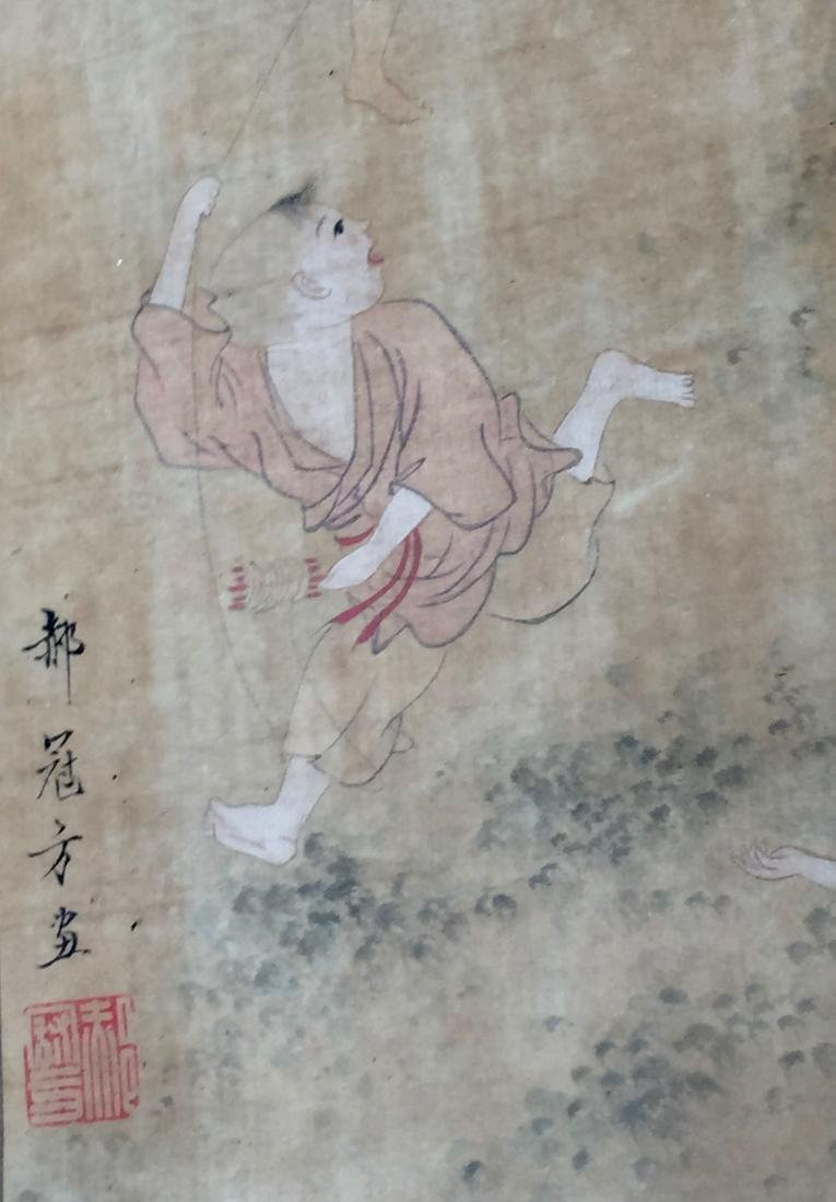 CHINESE ANTIQUE PAINTING. HAO GUANFANG SIGNATURE. - 4