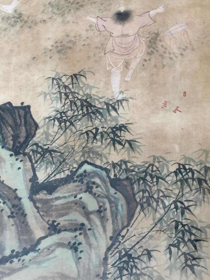 CHINESE ANTIQUE PAINTING. HAO GUANFANG SIGNATURE. - 7