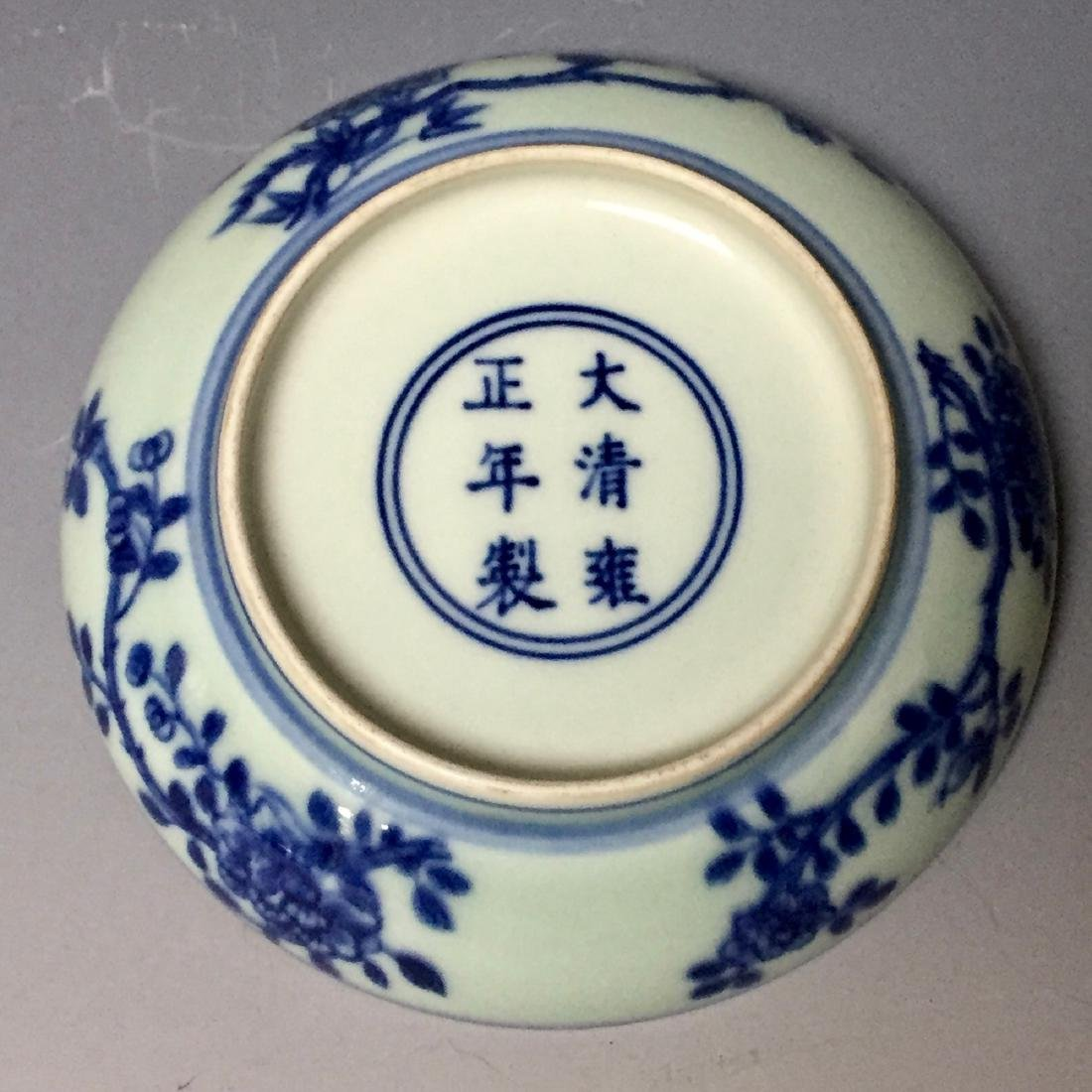A PAIR OF CHINESE ANTIQUE BLUE AND WHITE PLATES , - 5