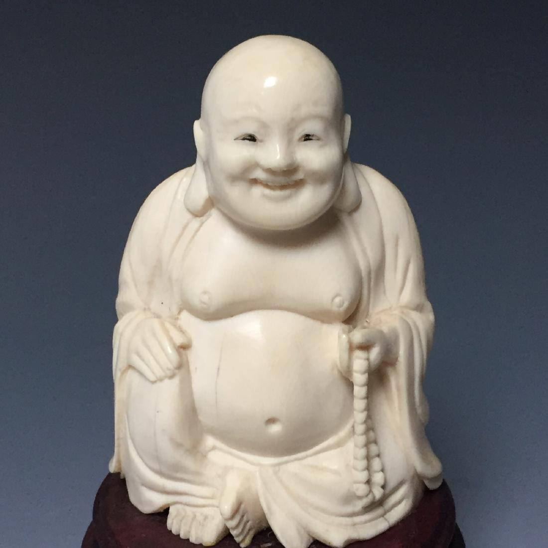 CHINESE ANTIQUE FIGURE OF A HAPPY BUDDHA - 2