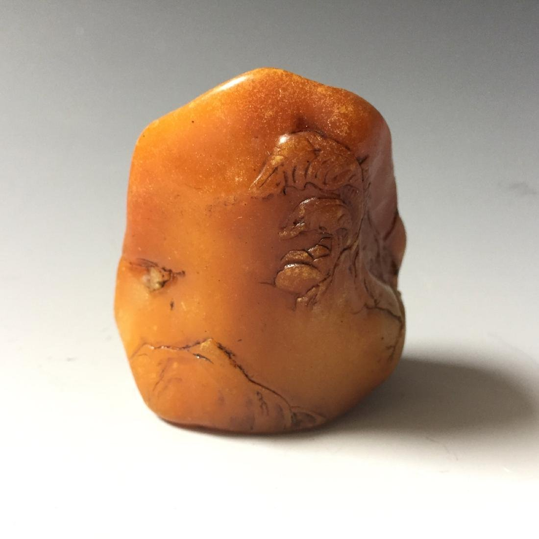 A CARVED TIANHUANG STONE SEAL - 2