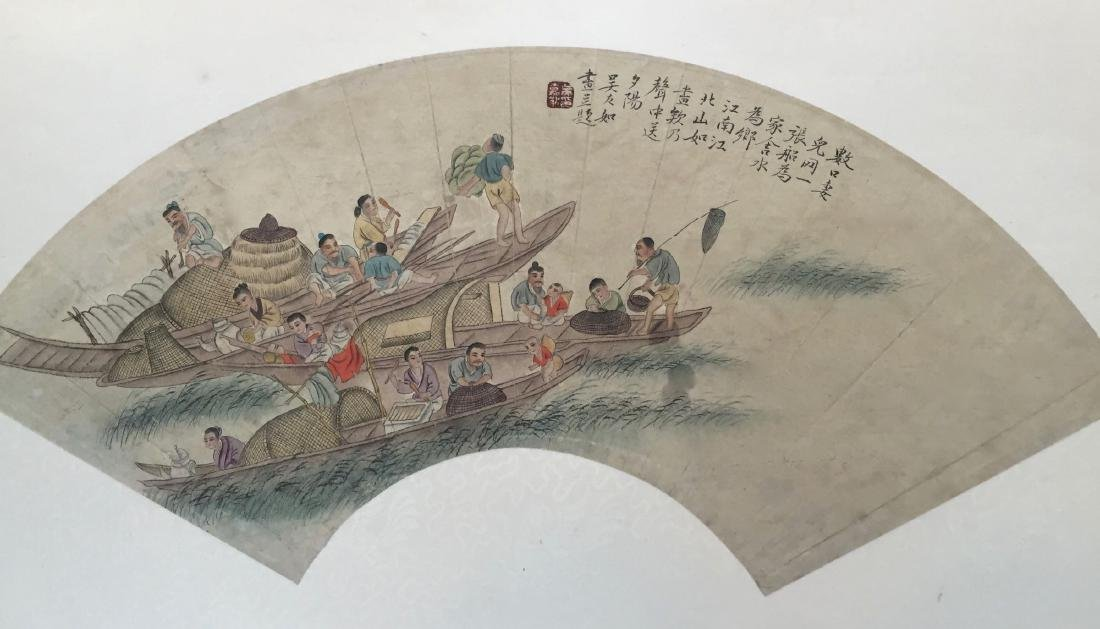CHINESE ANTIQUE PRINTING WITH FRAME.SIGNED BY WU YOURU - 2