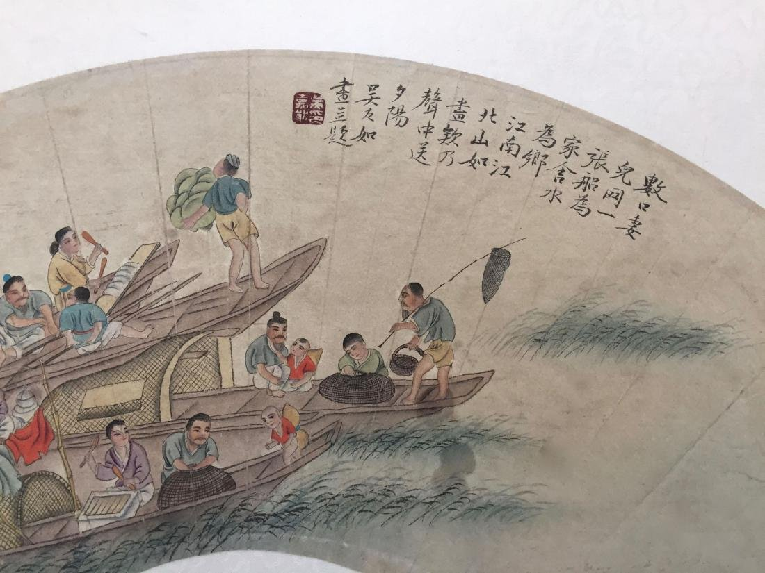 CHINESE ANTIQUE PRINTING WITH FRAME.SIGNED BY WU YOURU - 3