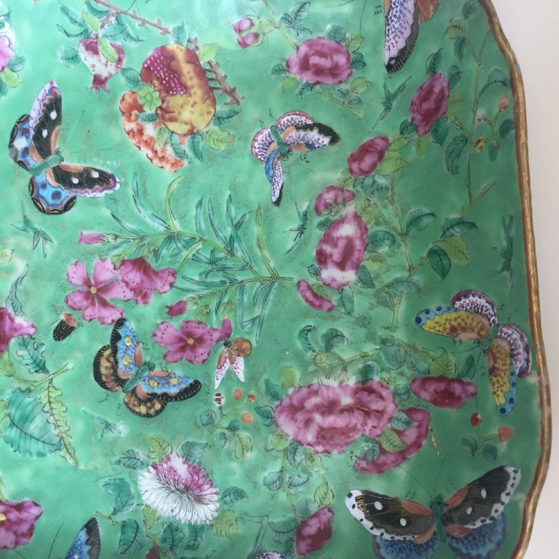 A FINE CHINESE ANTIQUE FAMILL ROSE PORCELAIN DISH,19C - 3