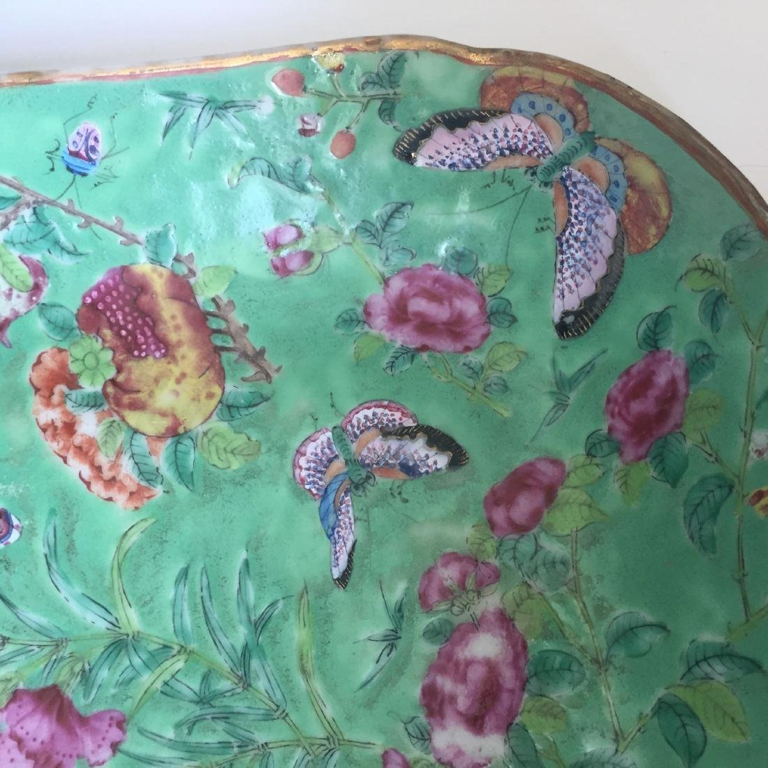 A FINE CHINESE ANTIQUE FAMILL ROSE PORCELAIN DISH,19C - 4