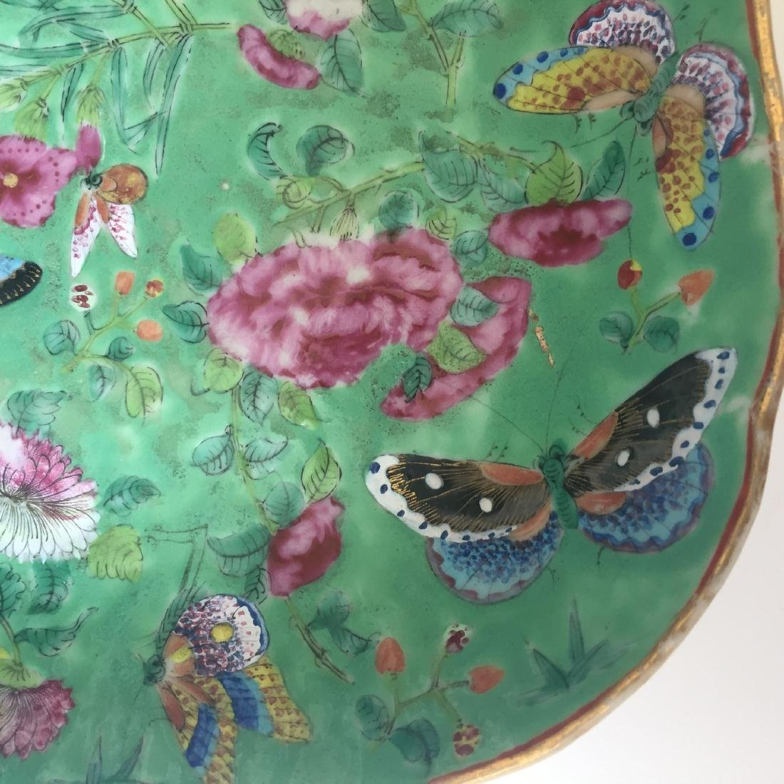 A FINE CHINESE ANTIQUE FAMILL ROSE PORCELAIN DISH,19C - 5