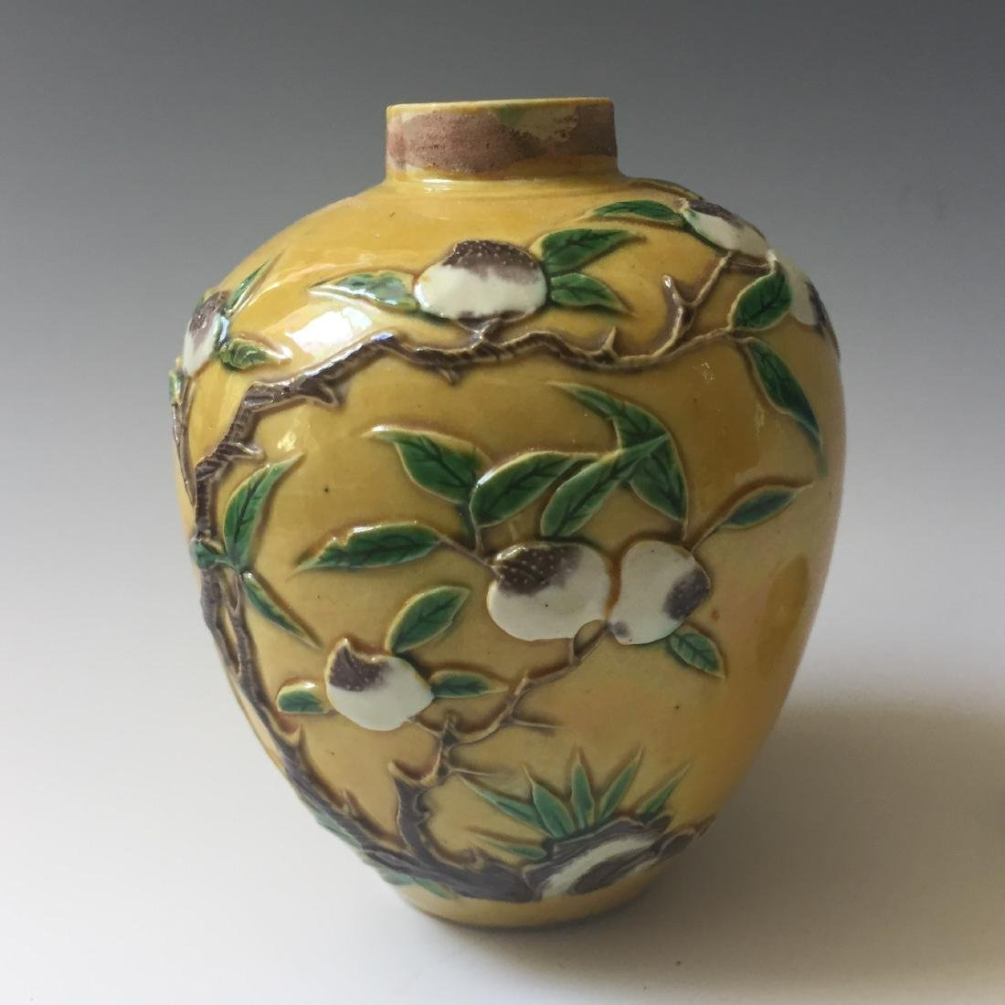 TOW OF CHINESE ANTIQUE POT AND VASE . MARKED - 3