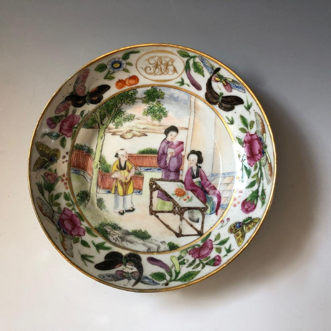 A SET OF CHINESE ANTIQUE FAMILLE ROSE PORCELAIN CUP AND - 2