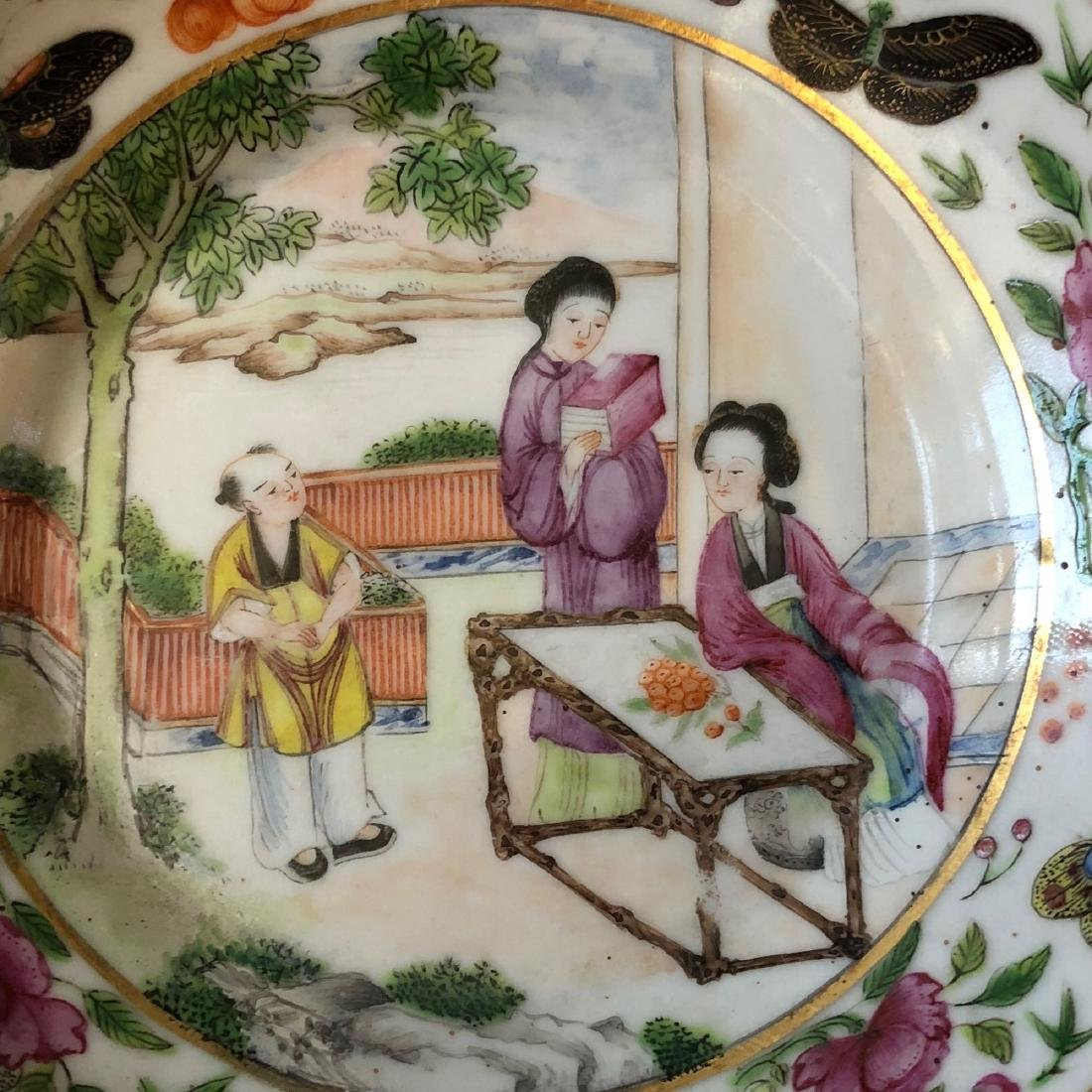 A SET OF CHINESE ANTIQUE FAMILLE ROSE PORCELAIN CUP AND - 7