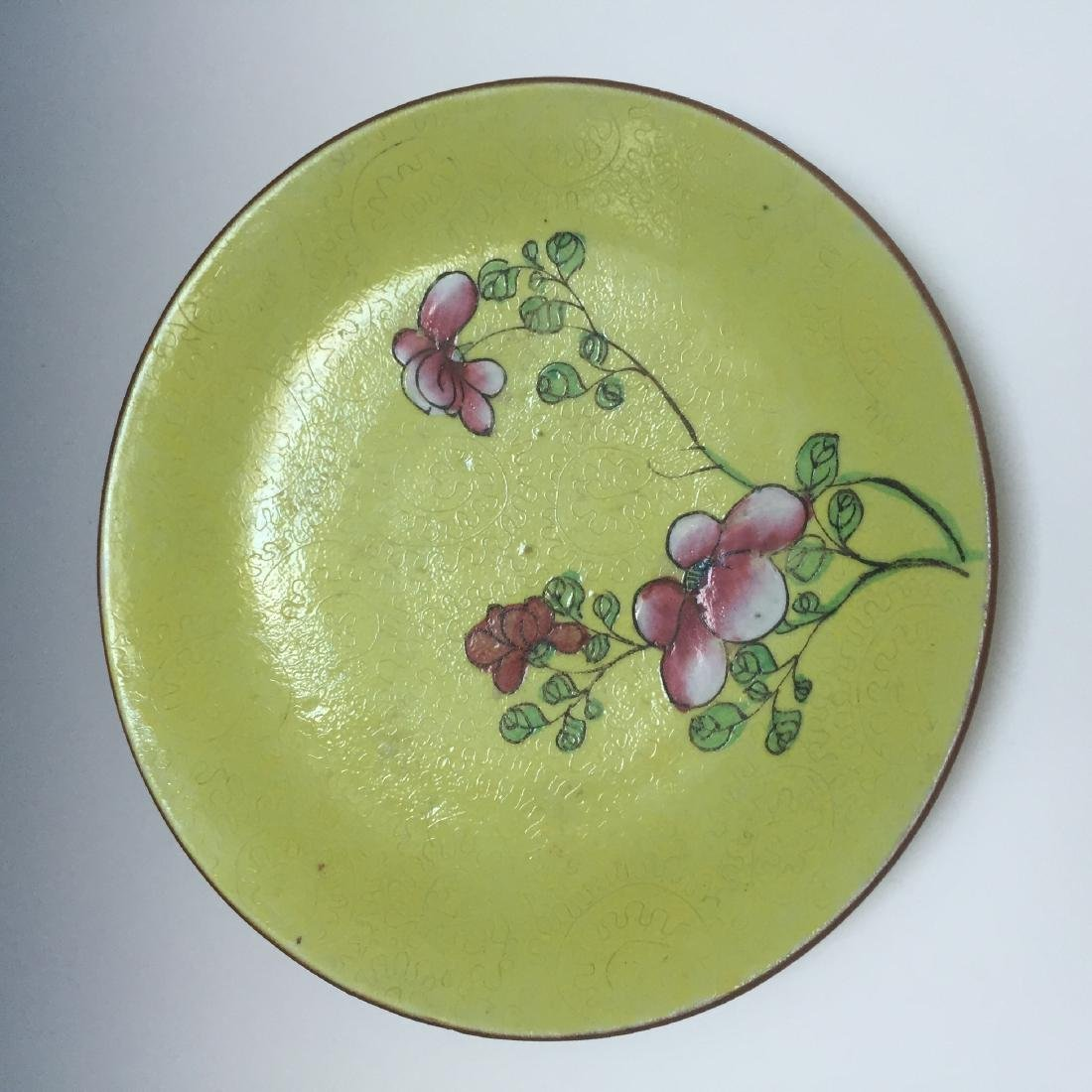 A BUEATIFUL CHINESE ANTIQUE FAMILLE ROSE DISH, 19TH CT - 2