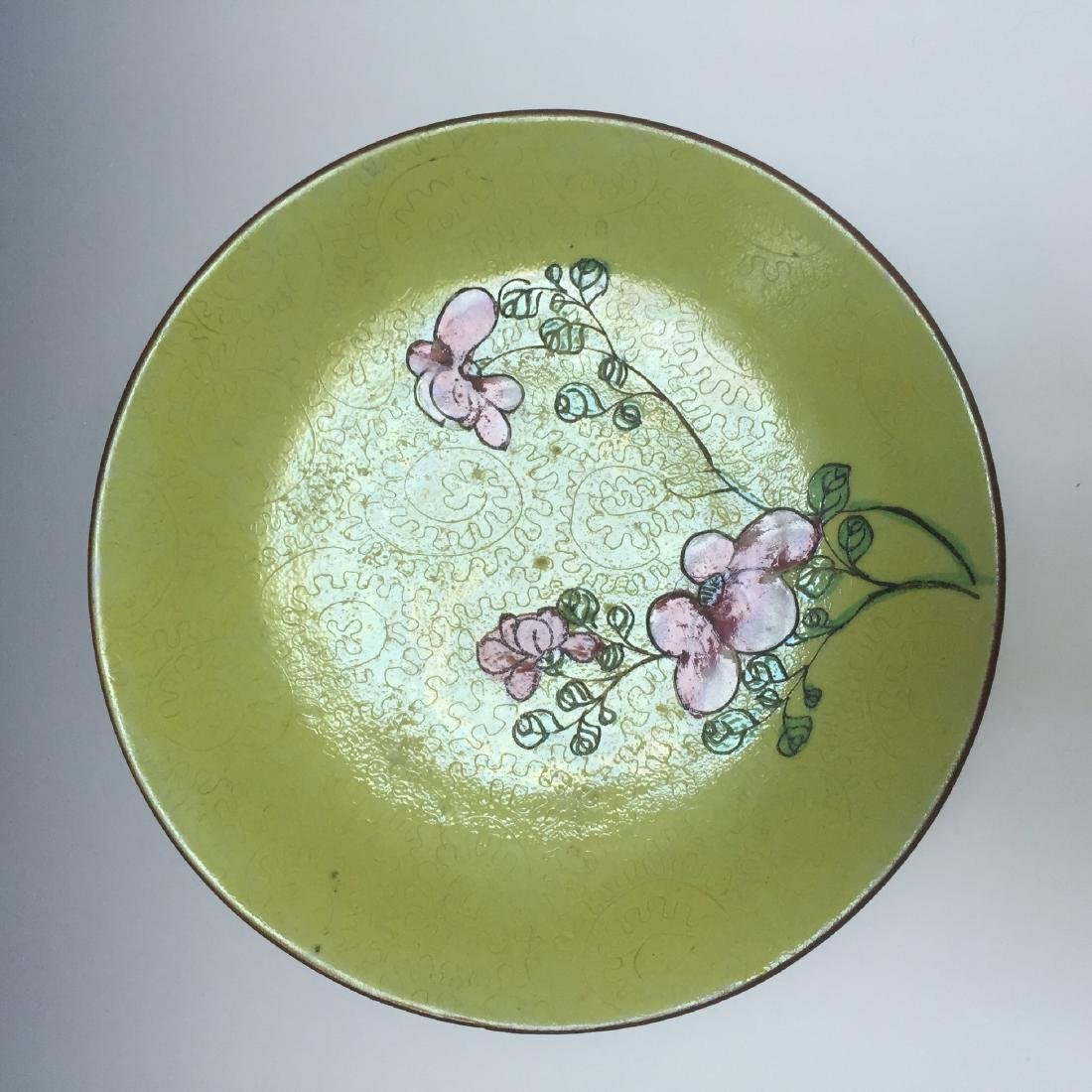 A BUEATIFUL CHINESE ANTIQUE FAMILLE ROSE DISH, 19TH CT - 3
