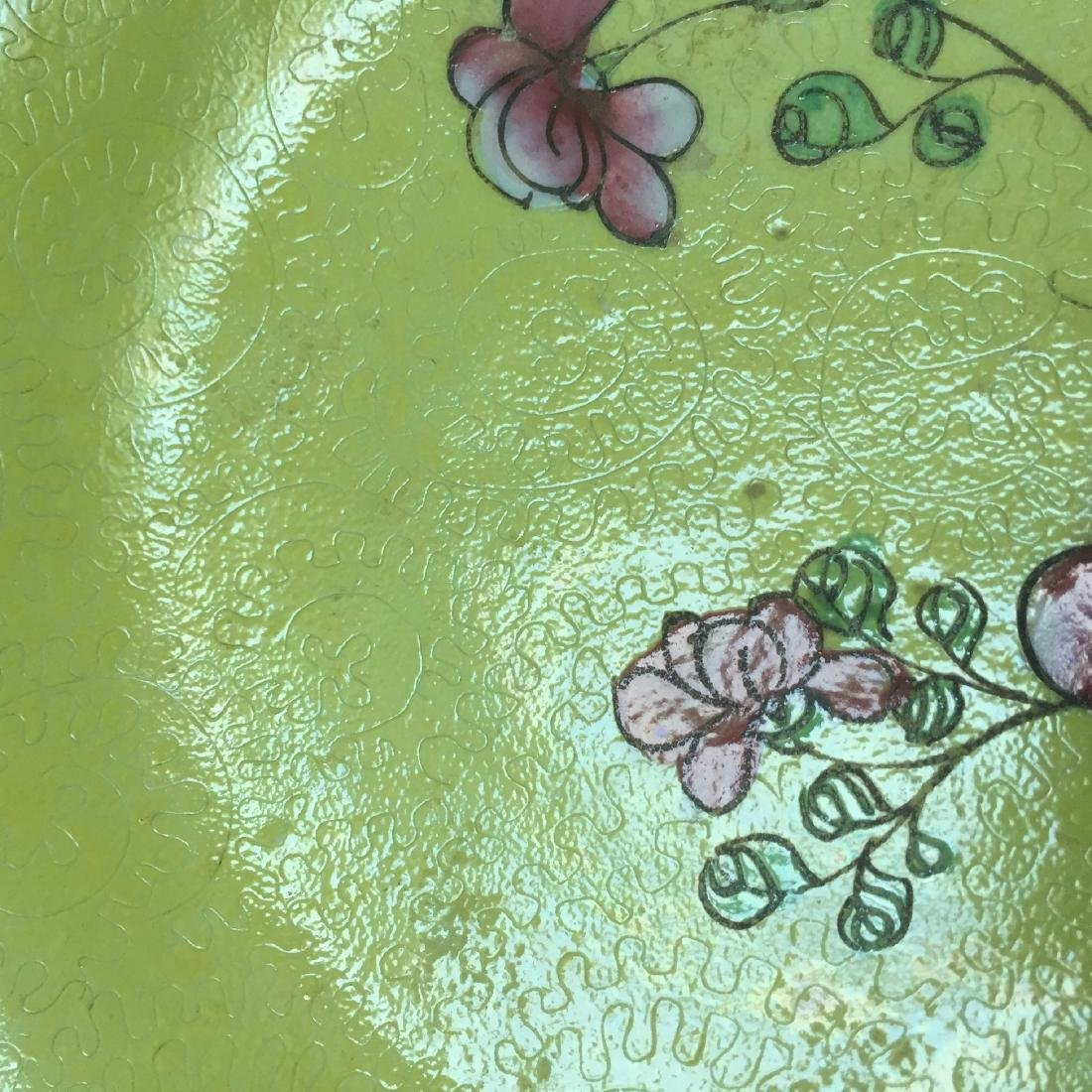 A BUEATIFUL CHINESE ANTIQUE FAMILLE ROSE DISH, 19TH CT - 4