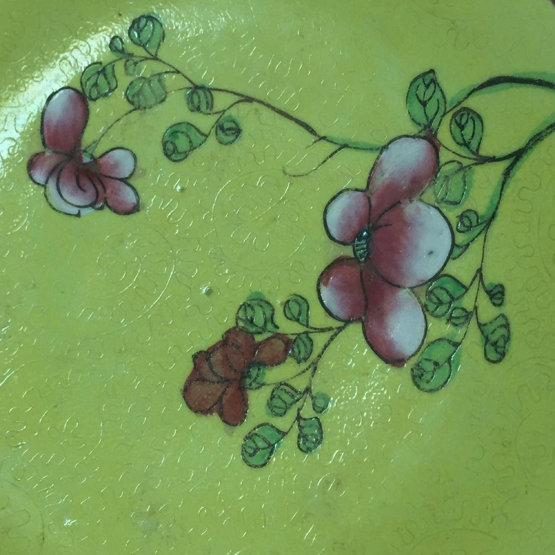 A BUEATIFUL CHINESE ANTIQUE FAMILLE ROSE DISH, 19TH CT - 5